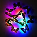 ieftine Lumini Nocturne LED-modă 7 culori schimbătoare drăguț fluture condus lumina de noapte acasă cameră birou perete decor 1pc