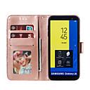זול כיסויים לסדרת גלאקסי J-מגן עבור Samsung Galaxy J6 / J6 (2018) / J6 Plus ארנק / מחזיק כרטיסים / עם מעמד כיסוי מלא פרח קשיח עור PU