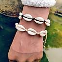 ieftine Brățări-Pentru femei loom brățară Scoică Puka Shell Tropical Cowry Bijuterii brățară Negru / Bej Pentru Nuntă Cadou Carnaval Ieșire Bikini