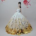 ieftine Haine Păpușă Barbie-Rochie de papusa Petrecere / Seară Pentru Barbie Floral / Botanic Poliester Rochie Pentru Fata lui păpușă de jucărie