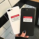 Недорогие Кейсы для iPhone-чехол для apple iphone xs / iphone xr / iphone xs max пыленепроницаемый / выкройка задней обложки слово / фраза жесткий ПК для iphone xr / 6/7/8 / 6p / 7p / 8p / x