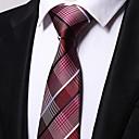 رخيصةأون ربطات عنق-ربطة العنق مخطط / خملة الجاكوارد رجالي حفلة / عمل