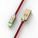 رخيصةأون أبل-ماكدودو فارس سلسلة النايلون مضفر السيارات افصل البرق 8pin كابل بيانات USB مزامنة الشحن