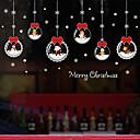 ieftine Tratamente de Fereastră-film de fereastră de desene animate de Crăciun& autocolant decorare modelată / geometrică de Crăciun / pvc cu caractere (clorură de polivinil) autocolant fereastră / amuzant
