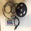 رخيصةأون شرائط ضوء مرنة LED-2M شرائط قابلة للانثناء لأضواء LED / أضواء RGB بشكل شريط / وحدة التحكم عن بعد 60 المصابيح SMD5050 1 24 مفاتيح تحكم عن / 2 × USB يربط خط RGB يو اس بي / حزب / ديكور USB آلي ب 1SET / IP65
