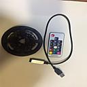 رخيصةأون شرائط ضوء مرنة LED-2M شرائط قابلة للانثناء لأضواء LED / أضواء RGB بشكل شريط 60 المصابيح SMD5050 17-مفتاح تحكم عن بعد / 2 × USB يربط خط RGB يو اس بي / حزب / ديكور USB آلي ب 1SET / IP65