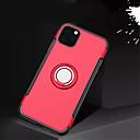 رخيصةأون أغطية أيفون-غطاء من أجل Apple اي فون 11 / iPhone 11 Pro / iPhone 11 Pro Max حامل الخاتم غطاء خلفي لون سادة TPU / الكمبيوتر الشخصي / معدن