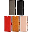 رخيصةأون أغطية أيفون-غطاء من أجل Apple iPhone XS / iPhone XR / iPhone X حامل البطاقات / قلب / مغناطيس غطاء كامل للجسم لون سادة جلد PU / TPU