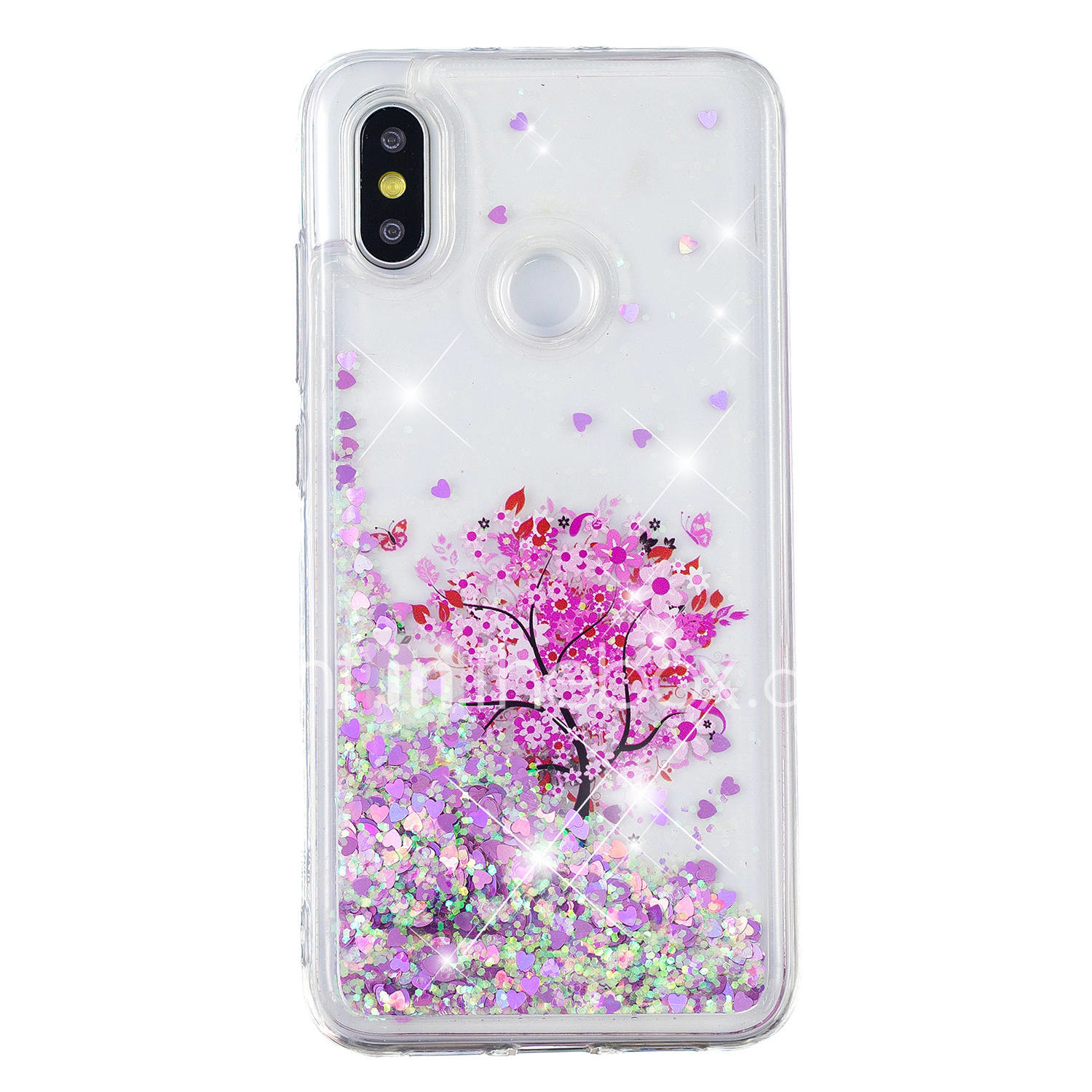 best service ffcb8 0b0b7 Case For Xiaomi Xiaomi Redmi Note 5 Pro / Xiaomi Redmi Note 4X / Xiaomi  Redmi Note 4 Flowing Liquid / Pattern / Glitter Shine Back Cover Tree / ...