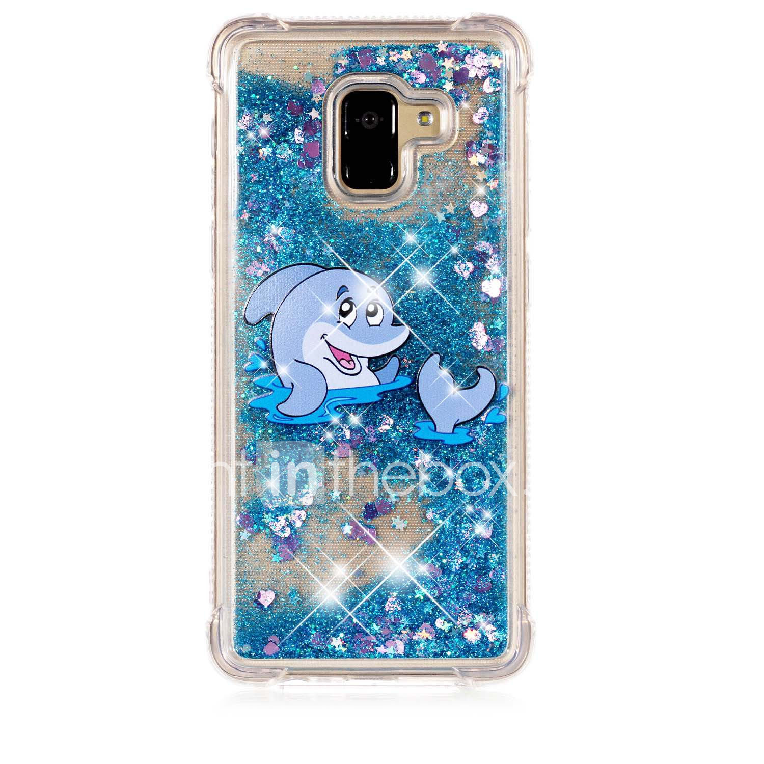 1f30aca801545c Case For Samsung Galaxy A8 2018 / A6 (2018) Shockproof / Flowing Liquid /  Pattern Back Cover Animal / Glitter Shine Soft TPU for A6 (2018) / A6+ (2018)  ...