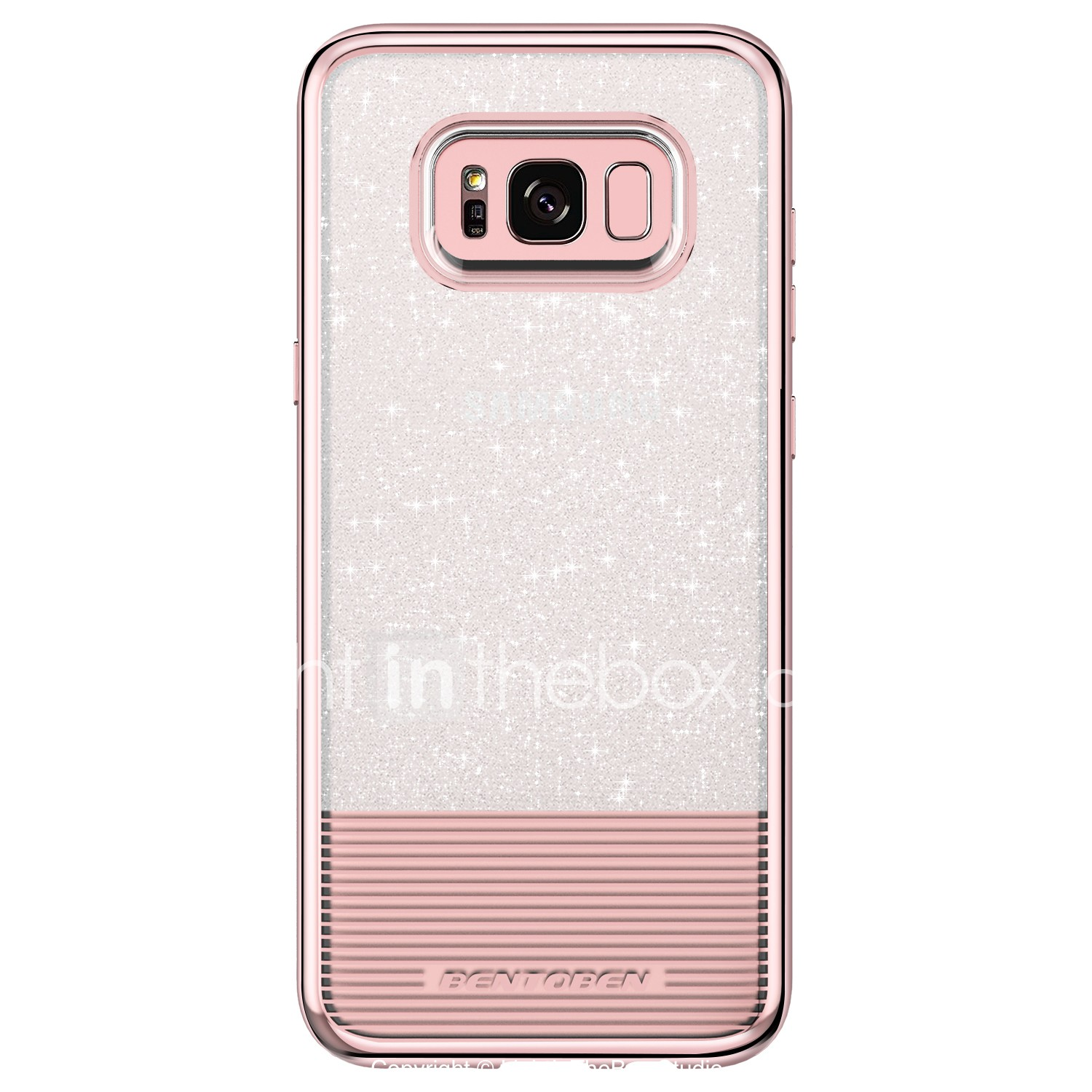 best website 9a24c 9dbca BENTOBEN Case For Samsung Galaxy S8 Plus / S8 Plating / Ultra-thin /  Glitter Shine Back Cover Solid Colored Soft TPU / PC for S8 Plus / S8