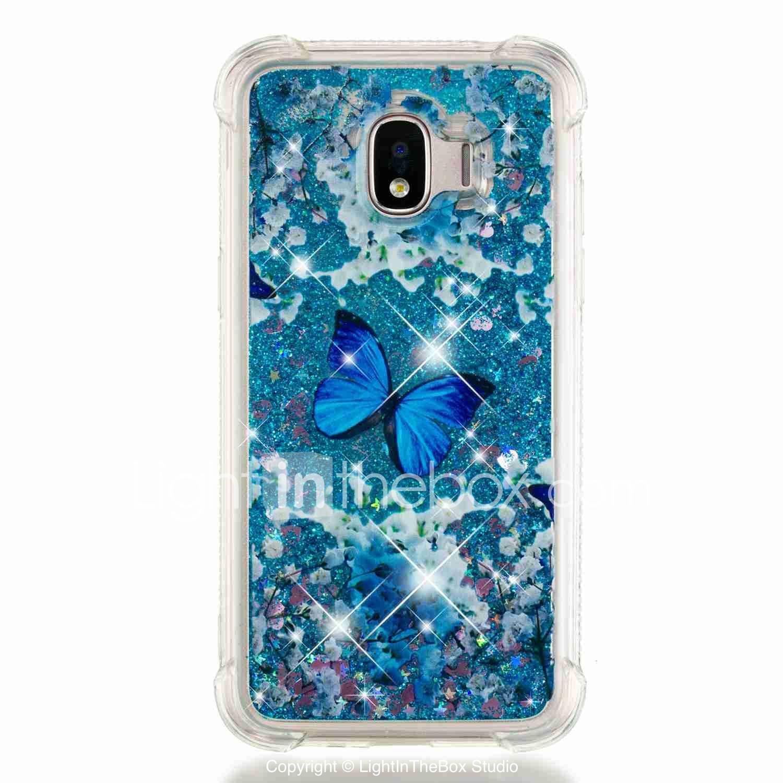 9e66aed5e9 Capinha Para Samsung Galaxy J6 / J4 Antichoque / Liquido Flutuante /  Transparente Capa traseira Borboleta
