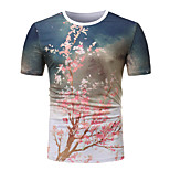 3e3d35e73c27 Χαμηλού Κόστους Ανδρικά Τοπ-Ανδρικά T-shirt Γεωμετρικό   Συνδυασμός Χρωμάτων  Patchwork   Στάμπα