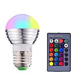 billiga -1st 3 W Smart LED-lampa 200-250 lm E14 E26 / E27 1 LED-pärlor SMD 5050 Smart Bimbar Fjärrstyrd RGBW 85-265 V