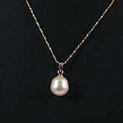 Mujer Perla / Perlas de agua dulce Collares con colgantes - Oro, Acero inoxidable, Chapado en Oro Bola Simple, Elegante Colgante Dorado Para Fiesta / Aniversario / Cumpleaños
