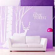 Dyr Botanisk Veggklistremerker Fly vægklistermærker Dekorative Mur Klistermærker, Vinyl Hjem Dekor Veggoverføringsbilde Vegg Dekorasjon