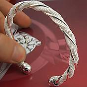 Dame Mansjett Sølv Smykker Bryllup Fest Spesiell Leilighet jubileum Bursdag Engasjement Gave Kostyme smykker