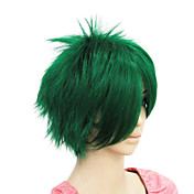 Mujer Pelucas sintéticas Corte Recto Chocolate Verde Pelucas para Disfraz