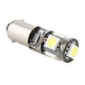 BA9s 1w luz blanca 5x5050 SMD LED bombilla para el coche de la lámpara del freno (12v)