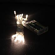 3m 30-leders varm hvitt lys 2-modus ledet snøfe lampe for (3xaa)