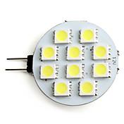 2W 160 lm G4 Focos LED 10 leds SMD 5050 Blanco Natural DC 12V