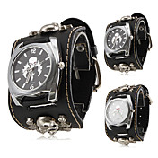 Mujer Reloj de Moda Cuarzo Banda Calavera Negro