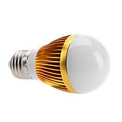 3000lm E26 / E27 LED-globepærer 3 LED perler Høyeffekts-LED Varm hvit 100-240V