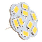 2.5W 3000lm G4 LED-lamper med G-sokkel 9 LED perler SMD 5630 Varm hvit 12V