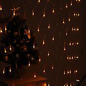 Decoración Festival 120-8-LED modo amarillo Lámparas de luz netas Fence Garden Party (220V)