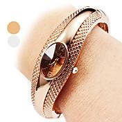 Mujer Reloj Pulsera Reloj de Moda Reloj Casual Cuarzo Reloj Casual Aleación Banda Elegant Brazalete Plata Bronce