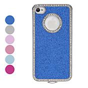 Diamond Frame Shimmering Powder vanskelig sak for iPhone 4/4S (assorterte farger)
