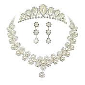 Mujer Perla artificial Cristal joyería de disfraz Legierung Collares Pendientes Tiaras Para Boda Fiesta Ocasión especial Cumpleaños Pedida