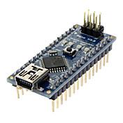 Arduino용 Nano V3.0 AVR ATmega328 P-20AU 모듈 보드 USB 케이블 블루+블랙