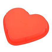 molde en forma de corazón dulce de la torta de la silicona del silicón (color al azar) molde de la torta, herramienta de la hornada