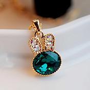 Dame Form Luksus søt stil Mote Anheng Halskjede Krystall Fuskediamant Legering Anheng Halskjede Fest Kostyme smykker