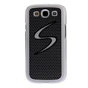 Cubierta en forma de S LED centelleo de luz de nuevo caso para Samsung Galaxy S3 I9300