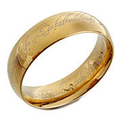 Hombre Anillo de banda - Moda Dorado anillo Para Regalos de Navidad Diario Casual
