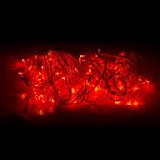 10 m Lysslynger 100 LED Rød 220 V