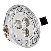 285 lm Innfelt lampe 3 leds Høyeffekts-LED Kjølig hvit AC 85-265V