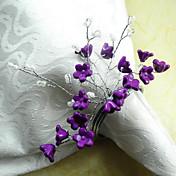 Flor Acrílico / Algodón Anillo de Servilletas Ecológica Decoraciones de mesa 12 pcs