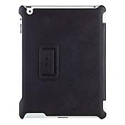 Funda Para iPad 4/3/2 con Soporte Activado / Apagado Automático Funda de Cuerpo Entero Color sólido Cuero de PU para iPad 4/3/2