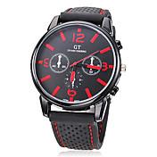 Hombre Reloj de Moda Japonés Reloj Casual Silicona Banda Encanto Negro