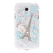 Para Funda Samsung Galaxy Diamantes Sintéticos / Diseños Funda Cubierta Trasera Funda Torre Eiffel Policarbonato Samsung S4