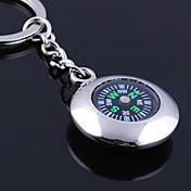 개인 새겨진 선물 라운드 나침반 모양의 열쇠 고리