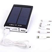 batería externa del banco 30000mah de la energía solar / linterna led para el iphone 6/6 más / 5 / 5s / samsung s4 / s5 / Nota 2