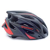 남여 공용 - 하프 쉘 - 사이클링 / 산악 사이클링 / 도로 사이클링 / 레크리에이션 사이클링 - 헬멧 (레드 / 블랙 , PC / EPS) 21 통풍구