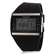 여성용 스포츠 시계 디지털 시계 석영 디지털 LCD 달력 실리콘 밴드 블랙 화이트 블루 오렌지 퍼플