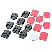 접착제 Flat Adhesive Pads Curved Adhesive Pads 에 대한 액션 카메라 Gopro 5/4/3/3+/2/1 유니버셜 자동 밀리터리 스노모바일 비행 영화 및 음악 사냥과 낚시 라디오 제어 스카이다이빙 보트 카약 암벽등반