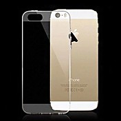 Funda Para iPhone 5 Apple Funda iPhone 5 Ultrafina Transparente Funda Trasera Color sólido Suave Silicona para iPhone SE/5s iPhone 5