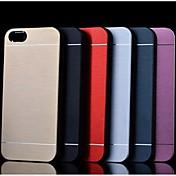 acabado de metal duro caso de la cubierta para el iphone 4 / 4s (colores surtidos)
